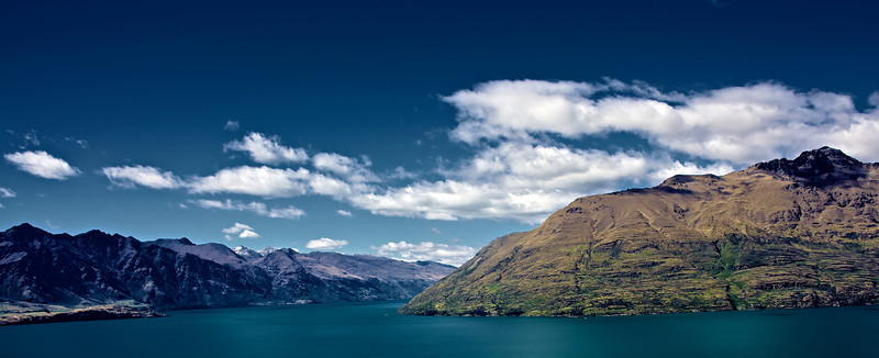 Lake Wakatipu Feb 2011<br /> <br /> Taken from the Fernhill hillside suburb of Queenstown Lake Wakatipu - would be nice to try the same shot in winter when the mountains are snow clad.