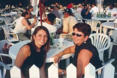 Mom and I at Tennis