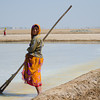 Salt worker at Little Rann of Kutch.