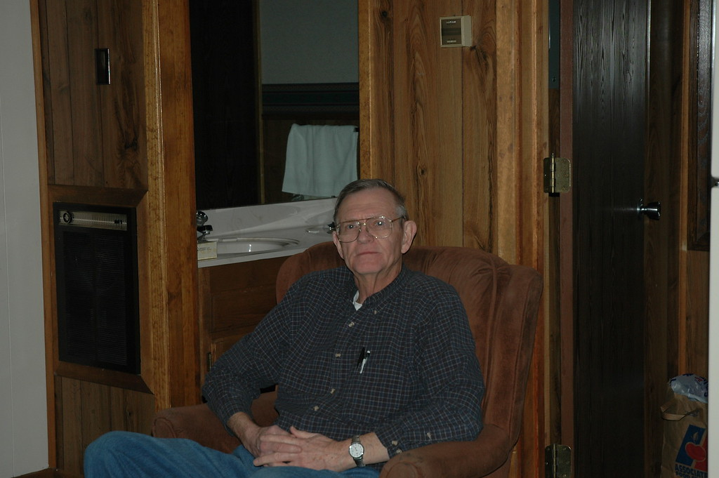 Dave Nelson relaxing in condo at Red River, NM.