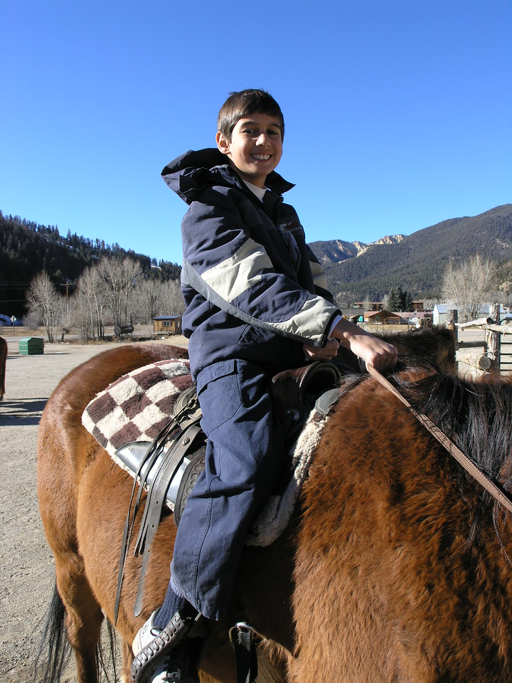 Photo of the day. Cameron riding high in the saddle.