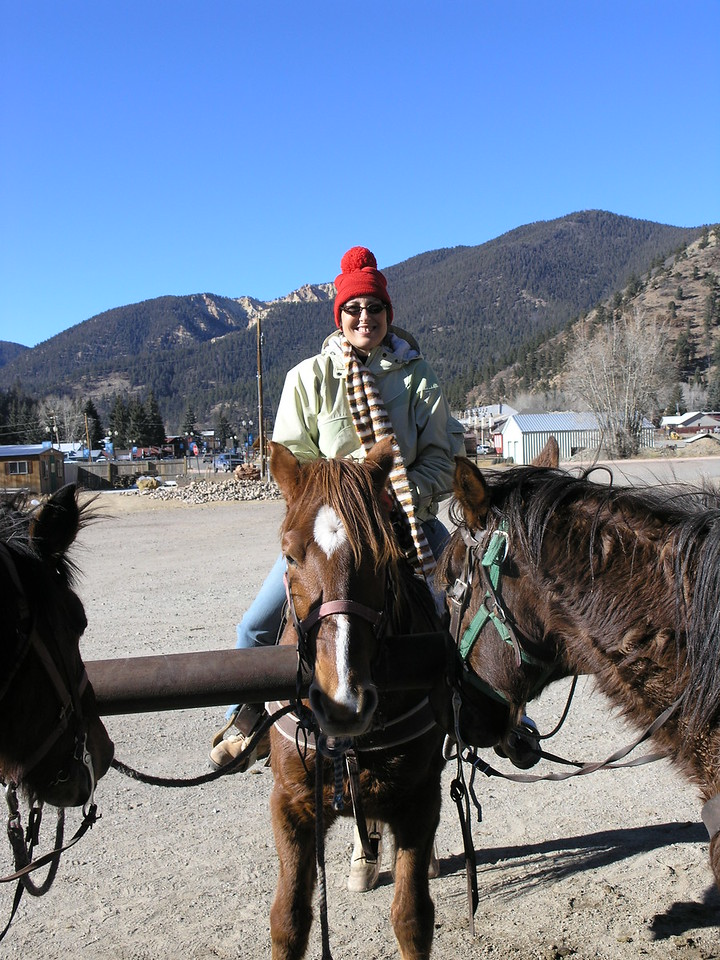 Cindy on her horse.