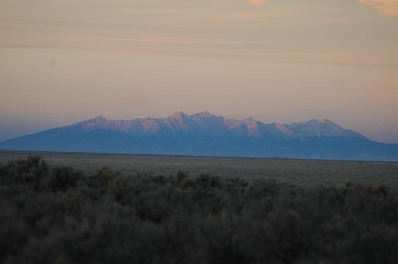 Culebra Peak (14,069') in Colorado as seen from Wild Rivers National Recreational Area, NM.