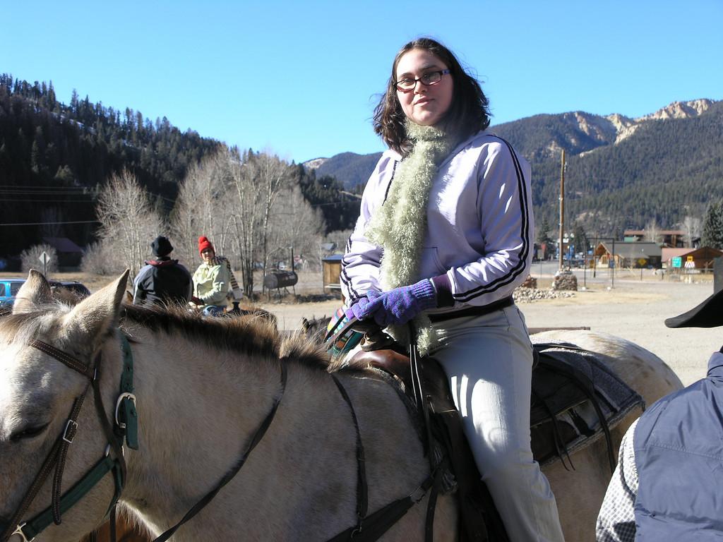 Danielle on her horse.