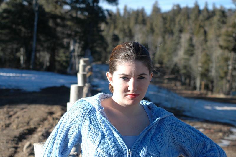 Kim posing near Taos Canyon.