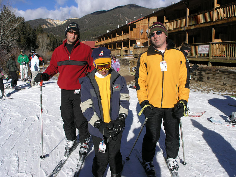 Aaron, Cameron and Gary in the lift line.