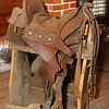 A saddle which was used by people in the Rode family. The family owned a large ranch that was located about 30 miles outside of Fredericksburg.