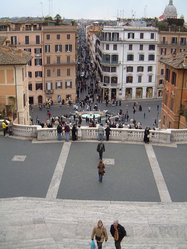 014 Looking Down Spanish Steps