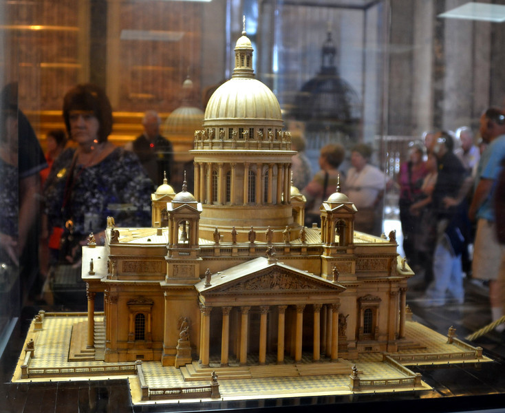 Miniature of St. Isaac in St. Petersburg, Russia