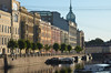 On the canal into St. Petersburg