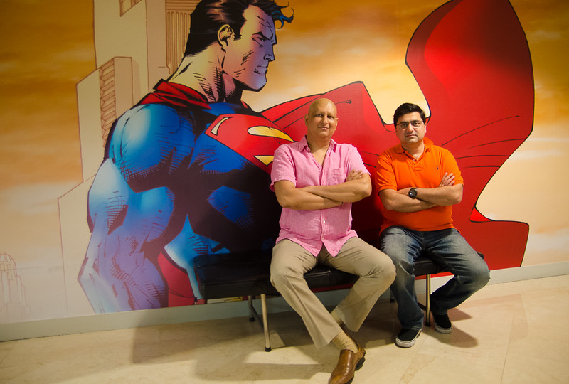 The real superman (in pink)!