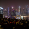 Light and sound show in front of Marina Bay sands.