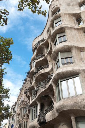 Casa Milà ' La Pedrera'  door Gaudi.