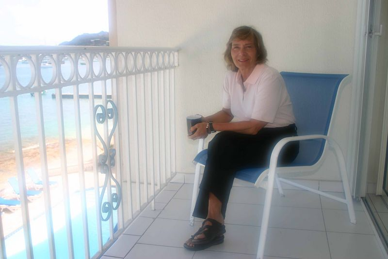 It may not have been Tim Horton's but Francine was happy to sit on the balcony and drink her Taster's Choice coffee.   It is amazing how good instant coffee can taste while overlooking the Caribbean and anticipating the day.  Which meant golf and relaxation.