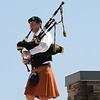 What could be better than sunshine on Saint Patrick's Day, .... what's that I hear?  The Loafing Leaprechaun ( Irish Restaurant & Pub ) sounds the call to lunch with bagpipes on the roof!  Ya gotta love that!