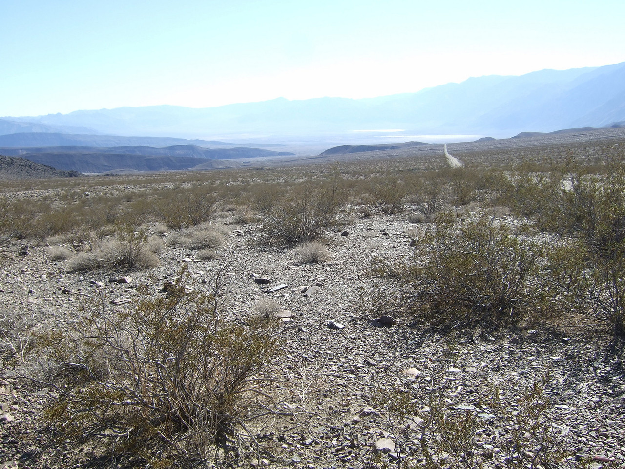 This is miles and hours from Saline Valley as seen from the middle of nowhere.