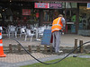 A geezer laying a fibre optic cable