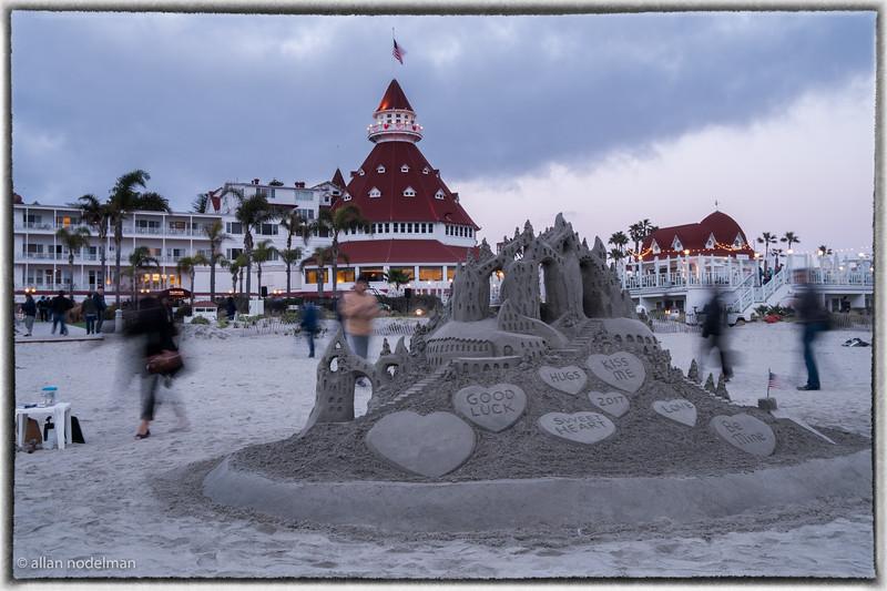 Sand Sculpture at Hotel del Coronado