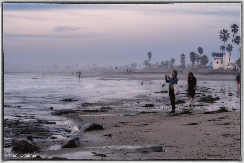 Watching the Sun Go Down on Ocean Beach