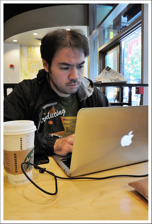 Kento was our official driver, and organizer.   Here he was early in the morning at Starbucks finding a good place for us to have breakfast.