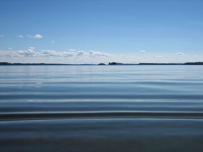 The lake at Sanna's summer place.