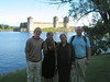 The Supponen's in front of the castle at Savonlinna.