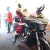 Santa, a good friend of Mark Clark's, rides into Crossroads Church in Fitchburg to surprise the congregation on Sunday morning. SENTINEL & ENTERPRISE / Ashley Green