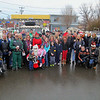 "Just before taking off to deliver toys to kids in need all over Fitchburg the volunteers what they are calling the ""Santa Express"" posed for a picture at their meeting point at Dippin' Donuts on Saturday morning. SENTINEL & ENTERPRISE/JOHN LOVE"