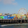 Santa Monica Pier.  This is actually often used as Venice Pier in the movie because Venice Pier actual is pretty boring.  The final scene of the movie Falling Down was shot here.
