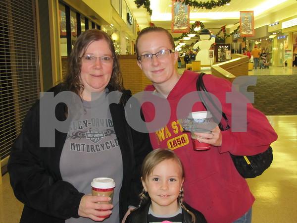 Cindy Epler, Breana McPherson, and Grace Bohon (front).