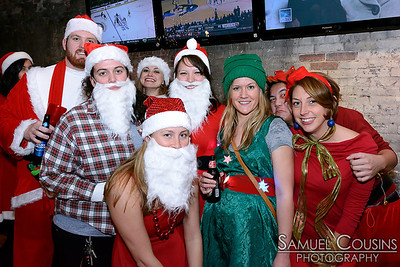 Santacon Portland 2013 at Pat's Pizza in the Old Port
