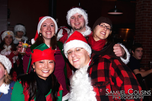 Santacon in Portland, Maine.