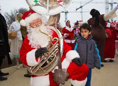 Jay Converse, the Tuba Guy (Fairfax VA) and Aarush (age 5)