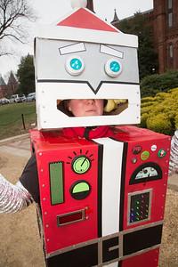 Kristen May as robot