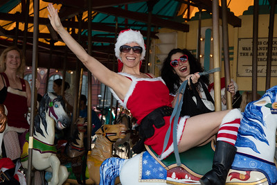 Amy Bowman came all the way from Lahaina Hawaii to ride the Carousel