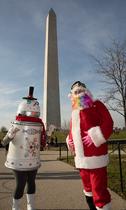 Chris Martin with Christin May as a Snowbot. They are from Rockville MD.
