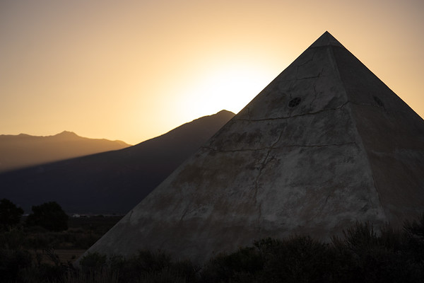 Pyramid in the New Mexico desert.