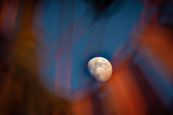Moon thru a Windmill.