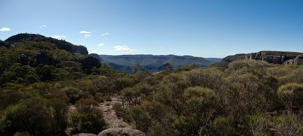 Looking into Hollands Gorge from The Seven Gods Pinnacles.