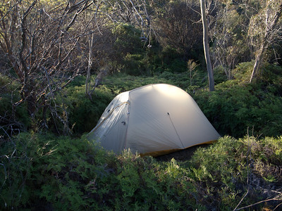 Our tent site at Styles Creek.