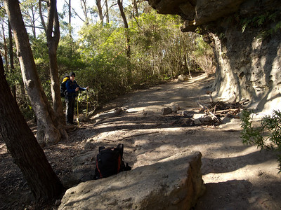 The first overhang as you reach the base of Mt Haughton.