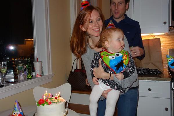 Sayers 1st Birthday - Ann & Bill's House