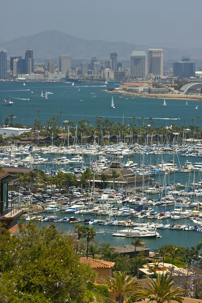 Overlooking San Diego Yacht Club and North Island.