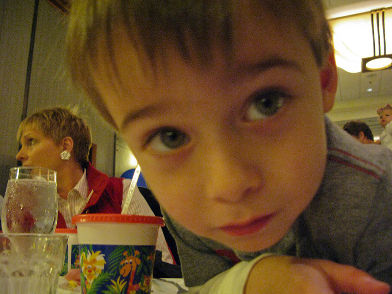 Sam I'am he said as he looked into lens,waiting on Santa to give him a present before he went to bed.