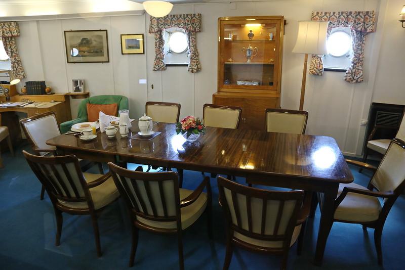 Edinburgh 2015 - HMY Britannia in Leith Port - Wardroom