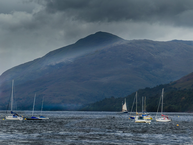 Sailing Boats on a Loch at Fort Williams Scotland