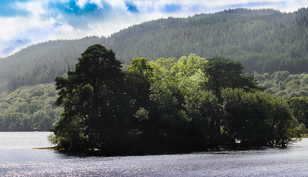 The McFarlane Island on LochLomand