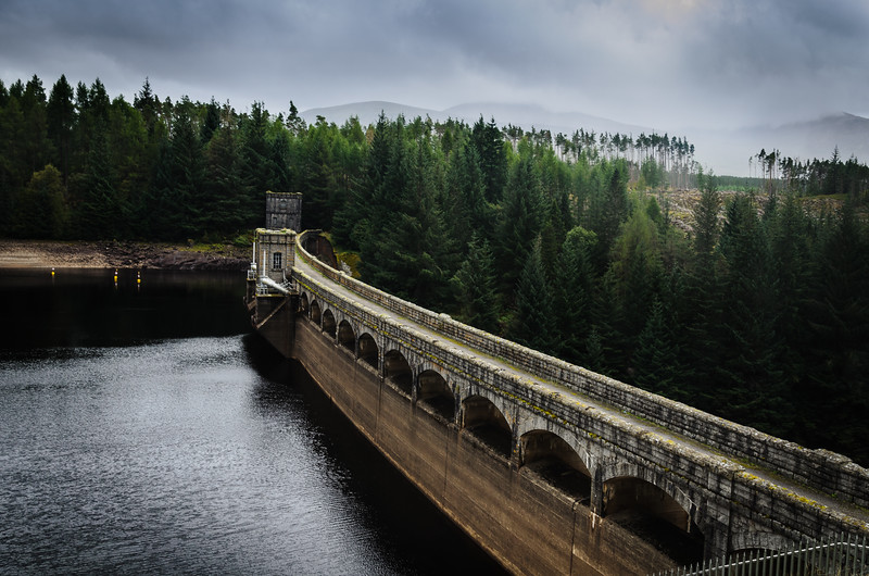 Another view of Laggon Dam in the highlands of Scotland