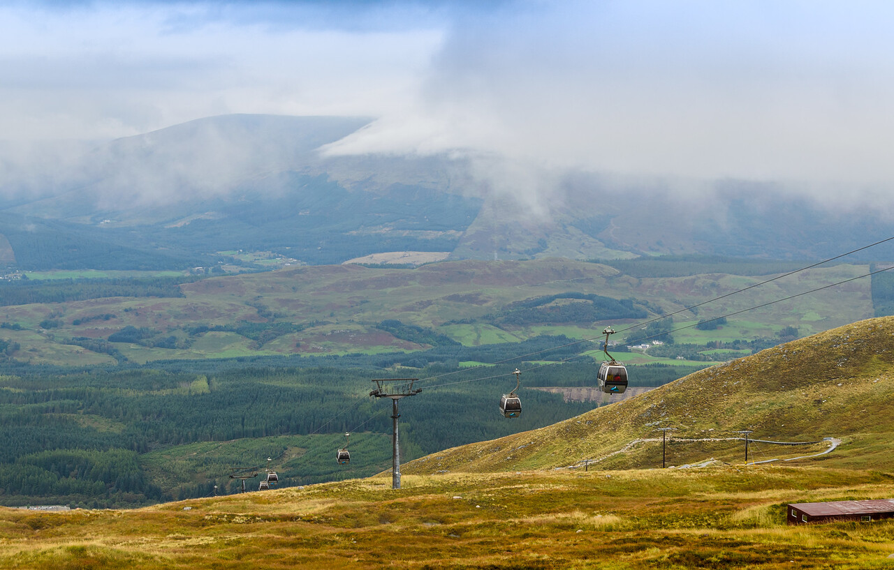 The veiw from halfway up on the Nevis Range