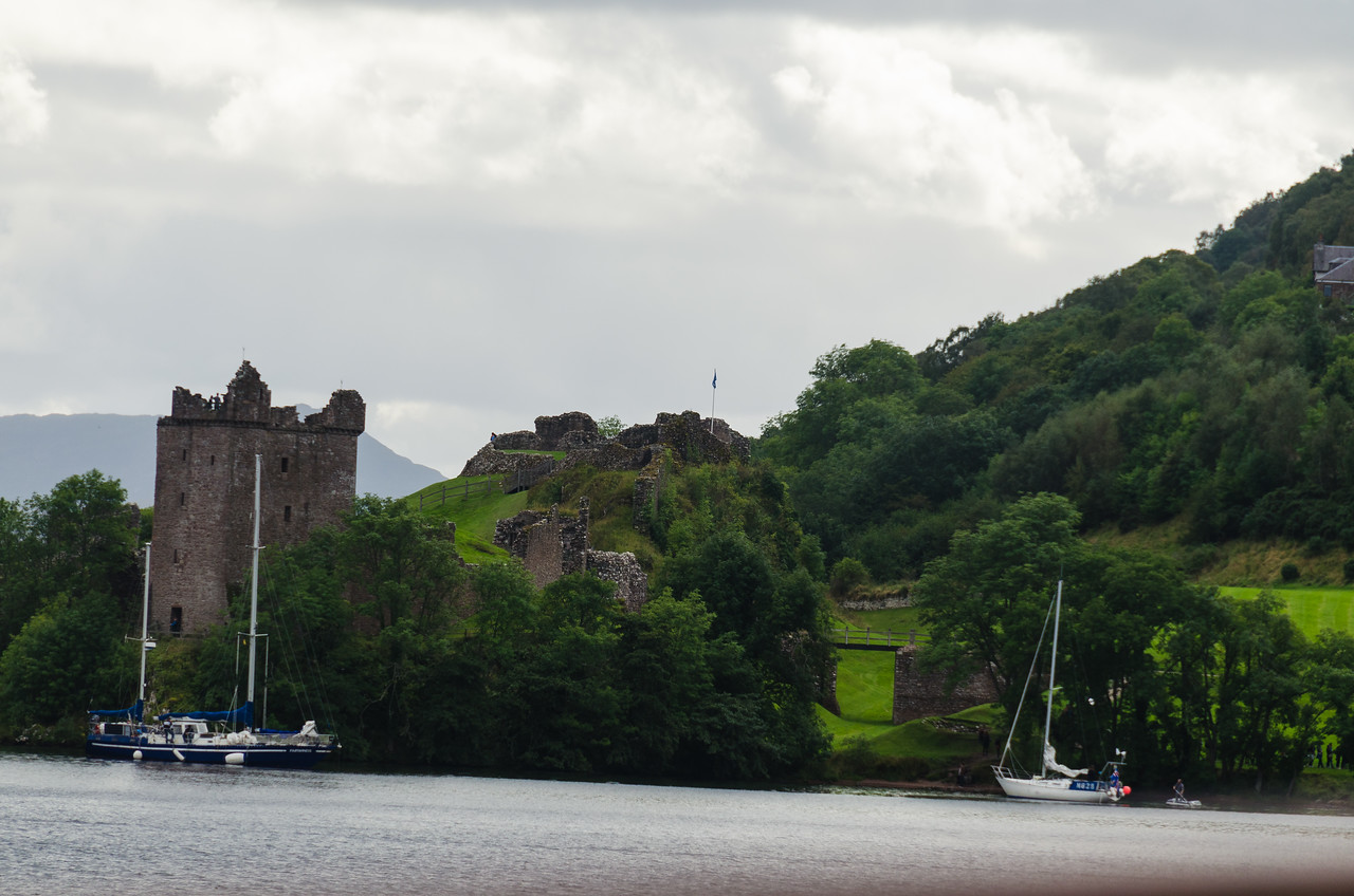 A view of Urquhart Castle from Loch Ness